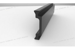 thermal barrier bar, Shape C 25mm thermal barrier bar, thermal barrier aluminium profile, thermal barrier aluminium window