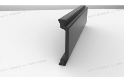 heat barrier strip, Shape C 28 mm heat barrier strip, heat barrier aluminium profile, heat barrier aluminium window