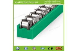 roller chain track guide,chain guide for automatic production line,TYPE TS chain guide,PA66 roller chain track guide,PA66 chain guide,