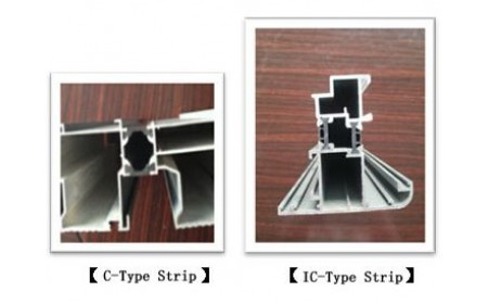the comparison test between the C type thermal insulation strip and the IC one